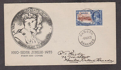 Bahamas - 1935 1st day cacheted Silver Jubilee cover mailed to Canada