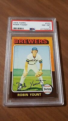 1975 Topps #223 Robin Yount Rc Rookie  Psa 8 Nm-Mt High Grade Milwaukee Brewers