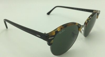 95aa8b8082 RAY-BAN CLUBROUND SUNGLASSES Rb4246 1157 Tortoise   Black green Lens ...