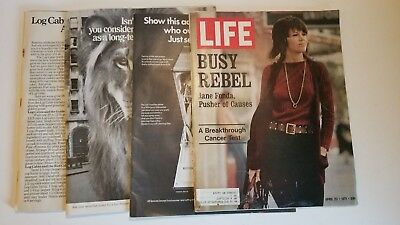 Lot of 4 Vintage LIFE Magazines (March/April 1971)