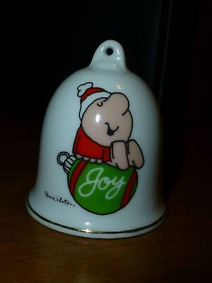 Ziggy Tom Wilson Porcelain Bell Christmas Ornament Gold Trimmed Perfect