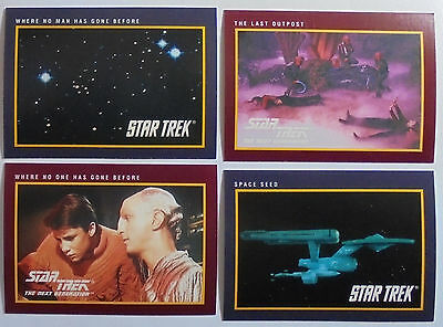1991 Impel: Star Trek 25th Anniversary Complete  Series I & 2 (310 base cards)
