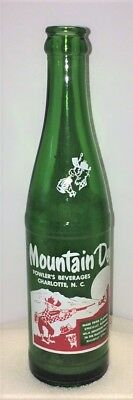 10 oz Mountain Dew Bottle Fowler's Beverages Charlotte, NC Soda Bottle