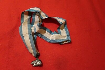 Vintage BSA Boy Scouts of America Silver Beaver Award with Blue and White Ribbon