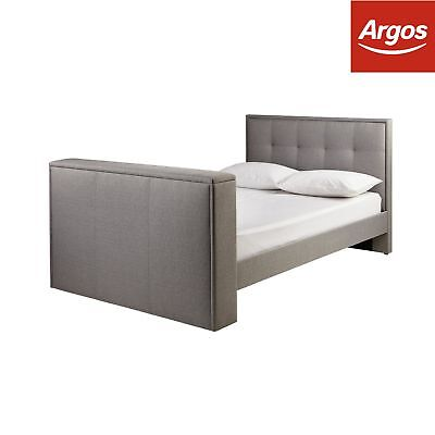 Argos Home Forsyth Dove Grey TV Bed Frame - Choice of Double / King