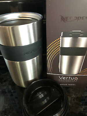 New Nespresso Vertuo Stainless Steel Travel Thermos dishwashersafe 13.5oz/400 ml