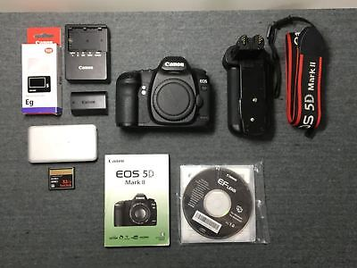 Canon EOS 5D Mark II 21.1MP Digital SLR Camera (Body Only) DS126201 with Extras