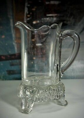 Antique Jersey Creamer Early American Pattern Glass McKee Bros 489 Kitchen Stove
