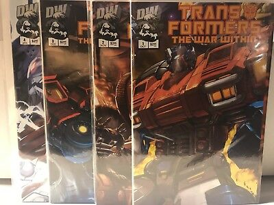 Transformers: The War Within #1-#4 Dreamwave Productions 2002