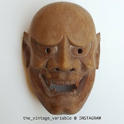 Miniature Japanese mask Oni Demon Evil Wooden