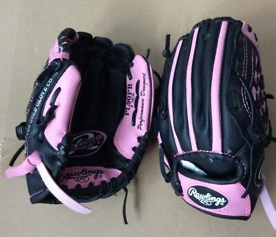 Lot of 2 Rawlings PL90PB 9-Inch Players Series Kids Ball Gloves Right-Hand Throw
