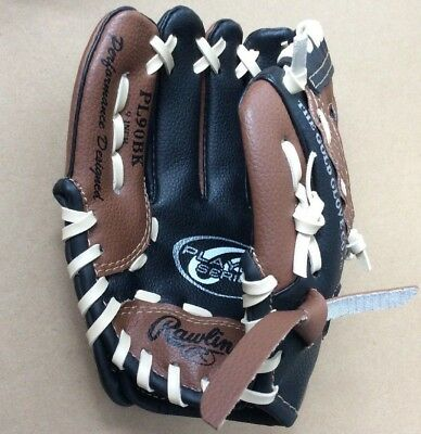 Rawlings PL90BK 9-Inch Players Series Kids Ball Glove - LEFT-HAND THROW