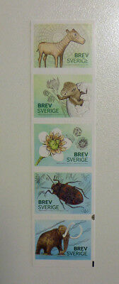 2015 Sweden Museum Of Natural History 5 Stamp Booklet Mint Stamps