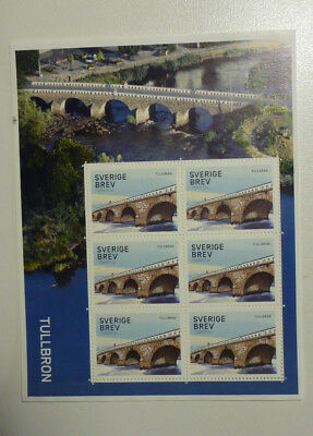 2016 Sweden Bridges  Mini Sheet Mint Stamps