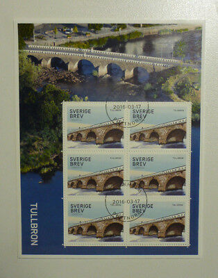 2016 Sweden Bridges Mini Sheet P/m First Day Of Issue Stamps