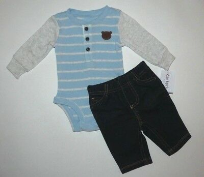 Baby boy clothes, 6 months, Carter's 2 piece set/long sleeve top/jeans/New Out!