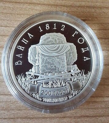 "Belarus 10 Roubles 2012 "" The war of 1812- The.200th Anniversary""."