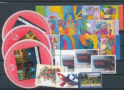 39201/  UNO ** MNH Lot Mixture aus ca 2001-2015 mit Blocks