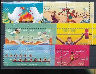 39224/ UNO NY , Wien, Genf 2016 ** MNH Lot / Mixture ZDS Sport