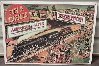 Vintage Metal/tin American Flyer Trains Gilbrt Erector Set Lionel Sign