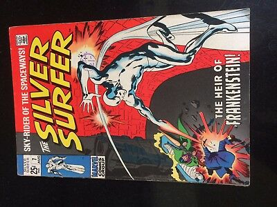 SILVER SURFER #7 (Marvel 1st Series) Last Tales of The Watcher. Buscema c/a 1969