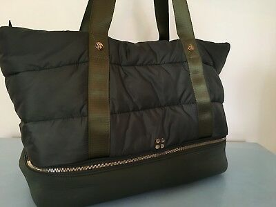 Sweaty Betty Luxe Gym Bag Olive