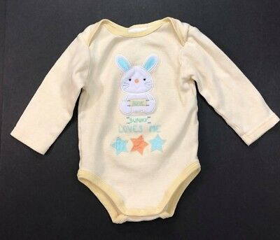 Toys R Us Miniwear Toddler One Piece Outfit Easter Bunny Rabbit Yellow 12 Months