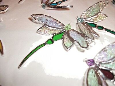 stained glass handmade dragonfly suncatcher / window decoration