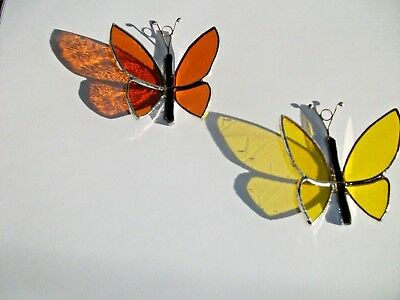 2 x Stained Glass Handmade Butterfly's Sun-catcher, window decoration