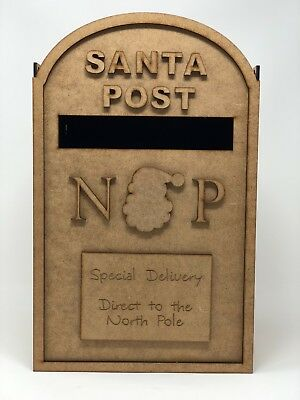 Santa Christmas post box. MDF. Christmas mail box. Santa postbox