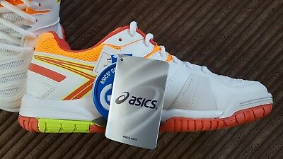 Asics Gel Game 5 White Gym Shoes / Running Trainers - New & Boxed - UK 5.5