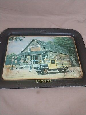 "Vtg Coca-Cola Serving Tray ""The Pause That Refreshes"" Issued 1993 Pamela Renfroe"