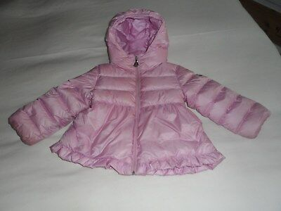 780d6e0ee GENUINE GIRLS PINK Padded Moncler Coat. 18-24 Months Vgc See Pics ...