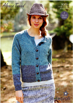 bd9b9c41c Stylecraft Ladies Cardigan   Jumper Alpaca Tweed DK Yarn Knitting Pattern  9009