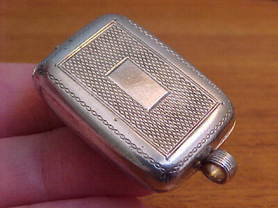 Chatelaine Box Locket Or Pill Box, Antique Georgian Or Early Victorian, Silver