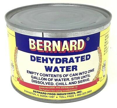 VTG Tin Can Bernard Dehydrated Water Gag Gift Sealed Empty Can