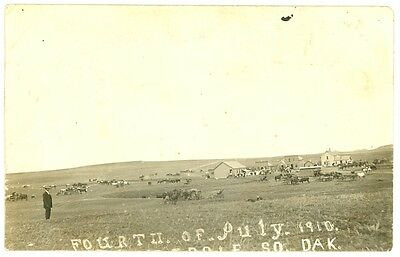 2 Lodgepole South Dakota circa 1910 Real Photo Postcards Western SD Antique RPPC