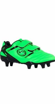 Optimum Kids Tribal Rugby Boots Fluro Green/Black UK size 3