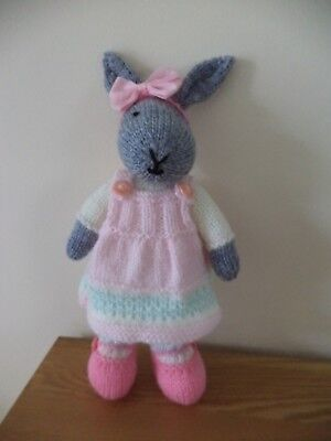 Cute Pretty In Pink Bunny Rabbit  Hand Knitted