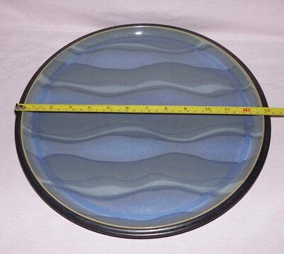 """Denby, Blue Jetty, Water, Large Charger / Serving Plate, 33.5cm (13¼"""") diameter"""