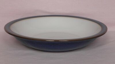 Denby Stoneware Imperial Blue, Rimmed Cereal / Soup Bowl, 21cm diam, 4cm tall