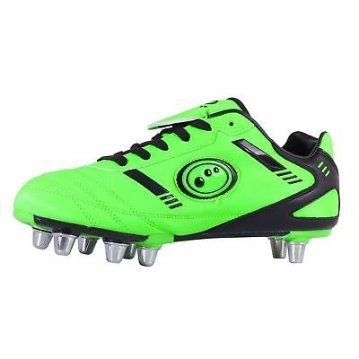 Optimum Kids Tribal Rugby Boots Fluro Green/Black UK size 8