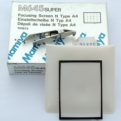 Mamiya 645 Super Focusing Screen Type A4 Grid, boxed, mint condition