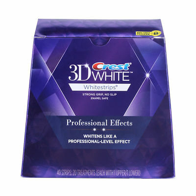1 Box Whitening Strips - Professional Effects - (20 pouches / 40 Strips)
