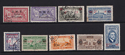 Syria Overprint Surcharge OMF Used 9 Different