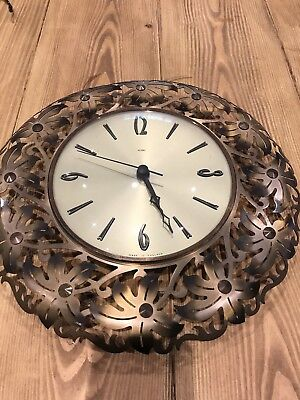 Antique Brass Vintage Clock