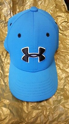 boys youth under armour hat fitted small/medium Blue