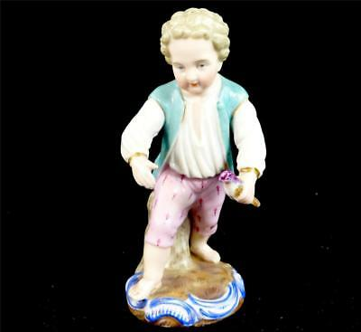 Antique 19Th Century German Sitzendorf Porcelain Figure Figurine Boy Putti