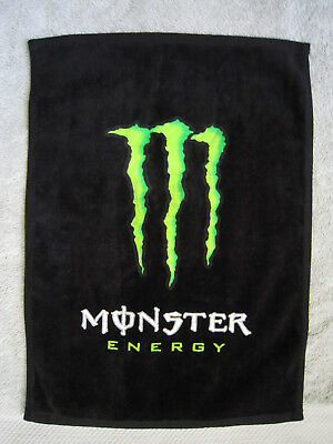 """NEW Monster Energy 16"""" x 11.5"""" 100% Cotton Personal Hand & Face Towel!"""
