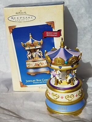 Hallmark 2003 Jewelry Box Carousel Treasures Dreams Series Christmas Ornament